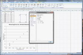 spring constant graph in excel 2007
