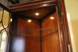 High End Mahogany Corner Cabinet with Lighting