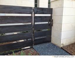 modern metal fence design. Mid Century Modern Metal Fence Gate Wood Furniture. Fireplace Design Ideas. Dining Room H