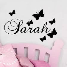 personalised wall decals uk personalized name erfly wall sticker art e
