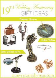 enchanting 19th anniversary nineth wedding anniversary gift ideas and 14th wedding anniversary gift ideas for her