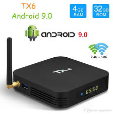 TX6 TV Box Android 9.0 4GB32GB 2GB16GB DDR3 Allwinner H6 EMMC 2.4G5G WiFi  Bluetooth 4.2 Smart TV Set Top Box Tv Box Tv Box Online Tv From Smartview,  $26.52