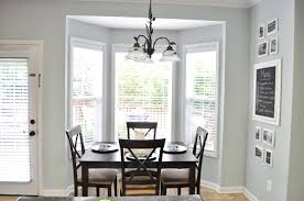 Bright House Dining Room With Delectable Dark Wood Furniture Units ...