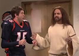 Tim Tebow and Jesus who did you expect.