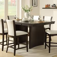 modern counter height table. Modern Counter Height Dining Table High Medium Brown Finish Sets N