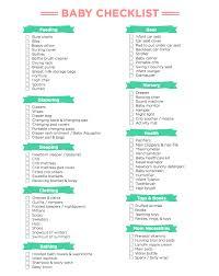 Baby Check List Baby Checklist After Sundance