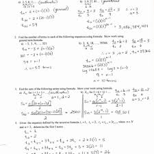 math geometric sequence worksheet arithmetic sequences and series