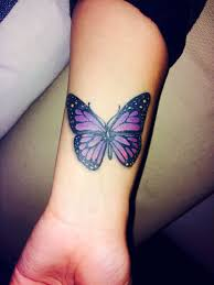 3d Purple Butterfly Tattoo Purple Butterfly Tattoos Images