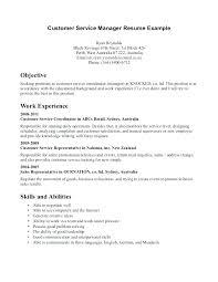 Customer Service Duties Resume Customer Service Cashier Resume