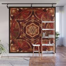 meditation in copper wall mural by