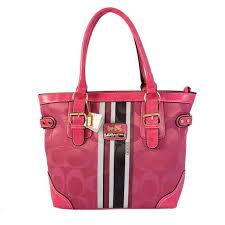 Stylish Coach In Signature Medium Pink Totes Bez Online GKZGY