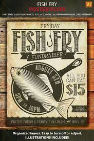 Fish Fry Flyer Microsoft Office Fish Fry Event Or Fundraiser Poster Flyer Events Flyers