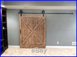 jumbo wheel sliding barn door hardware kit with 8 feet track 96 made in usa