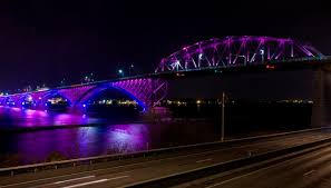 lighting for walls. contemporary walls the peace bridge between buffalo and fort erie uses some 700 rgb led  colorchange on lighting for walls
