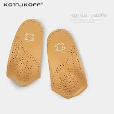 kotlikoff 3 4 length leather insole flat foot orthotic insoles arch support 2 5cm half shoe pad orthopedic insoles foot care shoe size 35 to 36