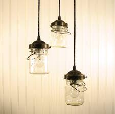 Unique Out Of The Box Glass Jar Pendant Light Suitable For White Background  Wall Three Level