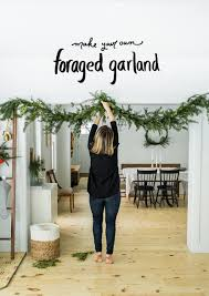 diy for holiday garland foraged from your yard a simple and easy and way