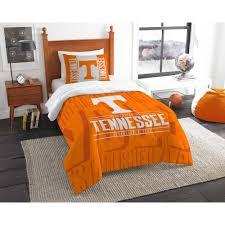 ncaa tennessee volunteers modern take bedding comforter set com