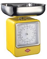 Кухонные весы-часы <b>RETRO STYLE</b>, желтые, <b>Wesco</b>