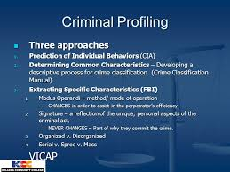 criminal psychology chapter techniques of criminal investigation 5 criminal profiling