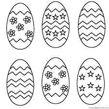 Small Picture Six Easter Eggs Coloring Page Easter