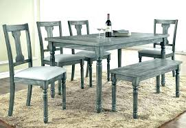 rustic gray dining table gray dining room set distressed gray dining table round and chairs rustic grey bench wood weathered deep pine extendable dining
