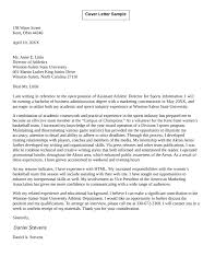 Athletic Director Cover Letter Examples 61 Images Athletic