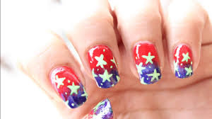 4th of July nail art - US flag nail designs (Memorial day nails ...