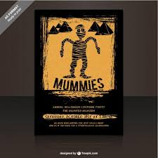 halloween party flyer template free mummies party flyer template for halloween vector free download