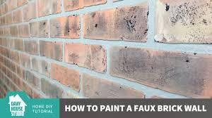 Painting Fake Brick Paneling Painting A Faux Brick Wall Youtube
