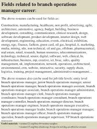 Top 8 Branch Operations Manager Resume Samples Bunch Ideas Of Bank