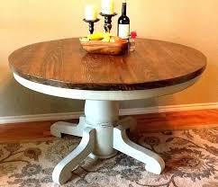 diy round kitchen table pedestal table base distressed round kitchen table new wood pedestal table base