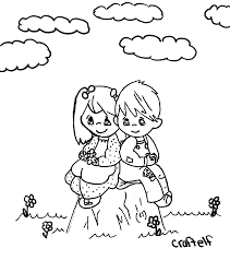 Small Picture Coloring Picture Of Best Friend Boy And Girl download free