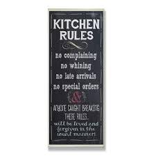 Chalkboard Kitchen Stupell Industries Kitchen Rules Chalkboard Look Textual Art Wall