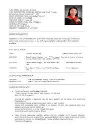 Sample Resumes Nurses sample resume format for nurses Enderrealtyparkco 1