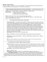 big data resume resume templates