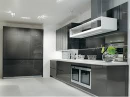 Black High Gloss Kitchen Doors Picture Of Modern Dark Grey Kitchen With High Gloss Cabinets3 With