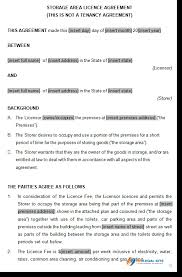 lease contract template storage space lease agreement
