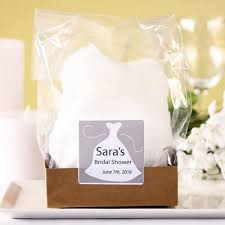 cotton candy for weddings. cotton candy bridal shower favor with personalized label for weddings