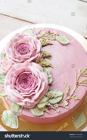 Buttercream Flower Cake Happy Birthday Cake Stock Photo Edit Now