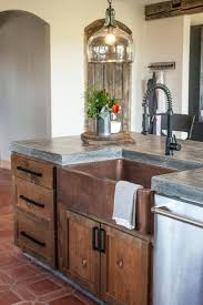 concrete farmhouse sink. Concrete Countertops, Copper Sink And Like The Cabinet. Just Needs To Sit 8 Around Island Farmhouse