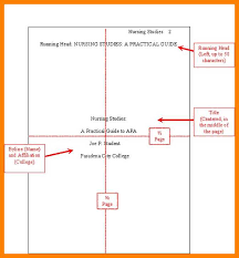 Example Of Running Head Apa 13 14 Apa Title Page Running Head Proposal Letter