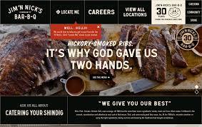 Best Barbecue Design Jim N Nicks Bbq Restaurant Web Design
