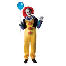Adult It Movie Deluxe Pennywise Evil Clown Mens Costume Sc 1 St Dazzle Fancy  Dress