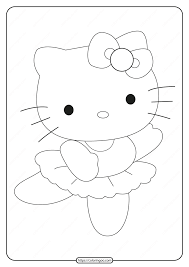 Free hello kitty coloring pages for you to color online, or print out and use crayons, markers, and paints. Printable Ballerina Hello Kitty Coloring Page