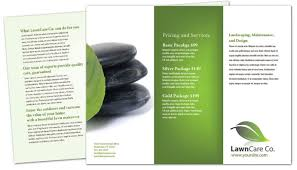 Lawn Care Brochure Tri Fold Brochure Template For Lawncare Services Order Custom Tri