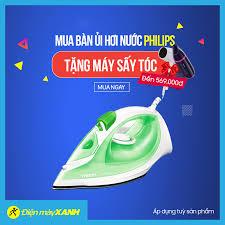 Điện máy XANH (dienmayxanh.com) - 💥💥 MUA 1 TẶNG 1 !!! MUA NGAY KẺO LỠ  !!!! 🌈 Mua bàn ủi Philips tại Điện Máy Xanh 🎁 TẶNG NGAY máy sấy tóc trị