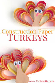 Craft Construction Paper Turkey Craft Thanksgiving Fun Turkey Craft
