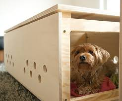 How to make a dog crate Table Diy Custom Cabinet Dog Crate Spartadog Blog 22 Fabulous Handmade Dog Crates Spartadog Blog
