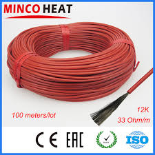 online buy whole electric heater wiring from electric 100m lot 3mm 12k 33ohm infrared underfloor heater electric wire silicone carbon